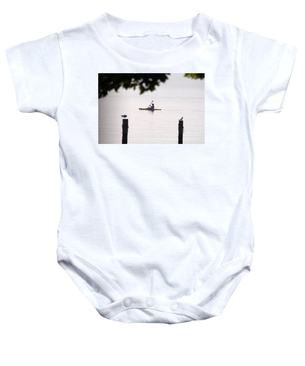 Clay Baby Onesie featuring the photograph Solitude by Clayton Bruster