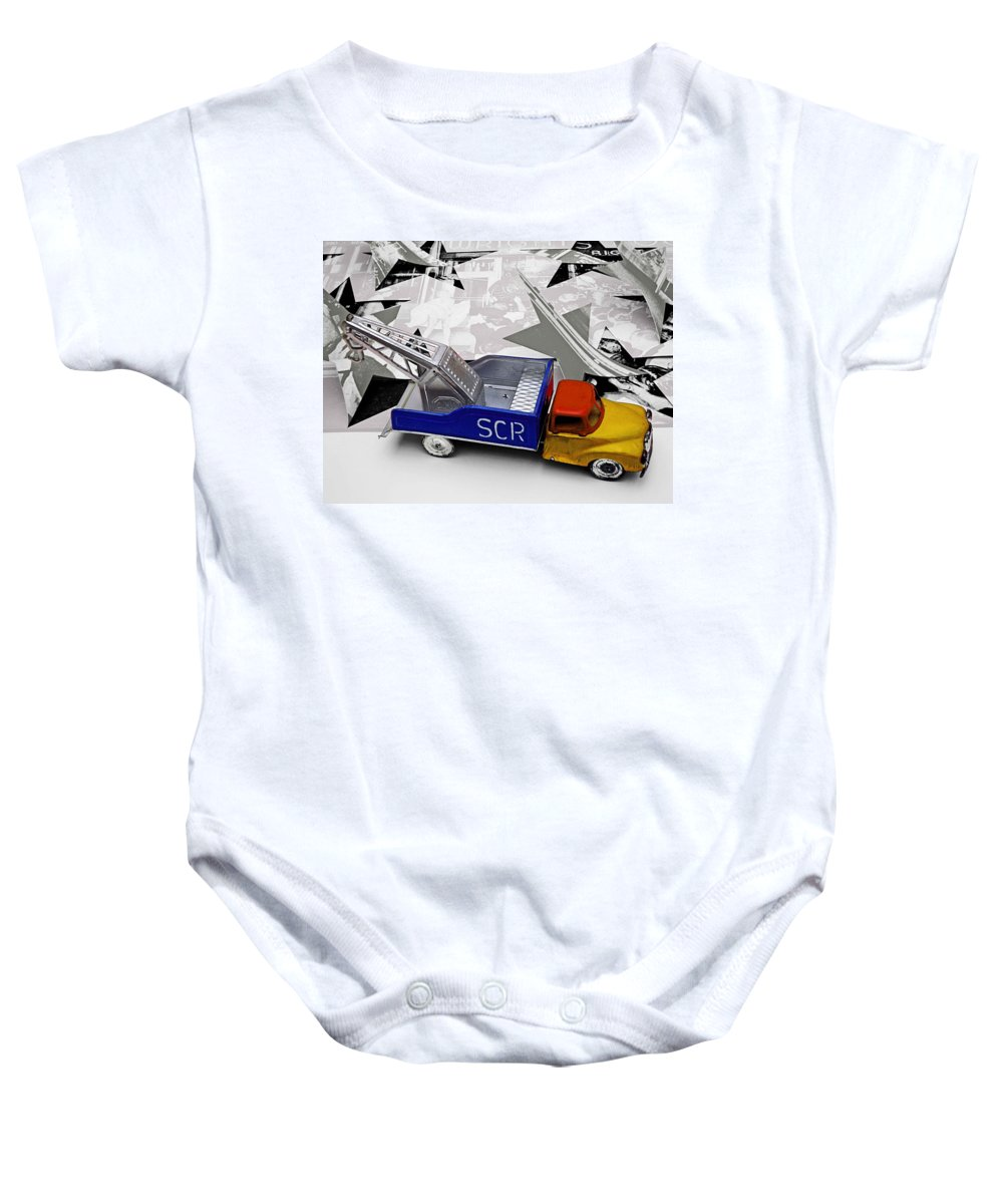 Marilyn Baby Onesie featuring the photograph Some Like It Hot by Charles Stuart