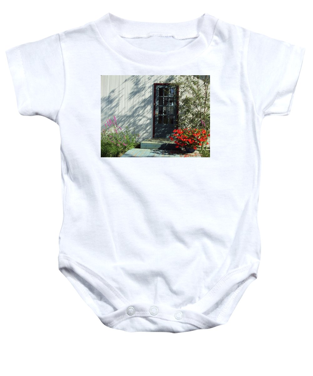 Baby Onesie featuring the photograph Somewhere At St Louis Village by Line Gagne