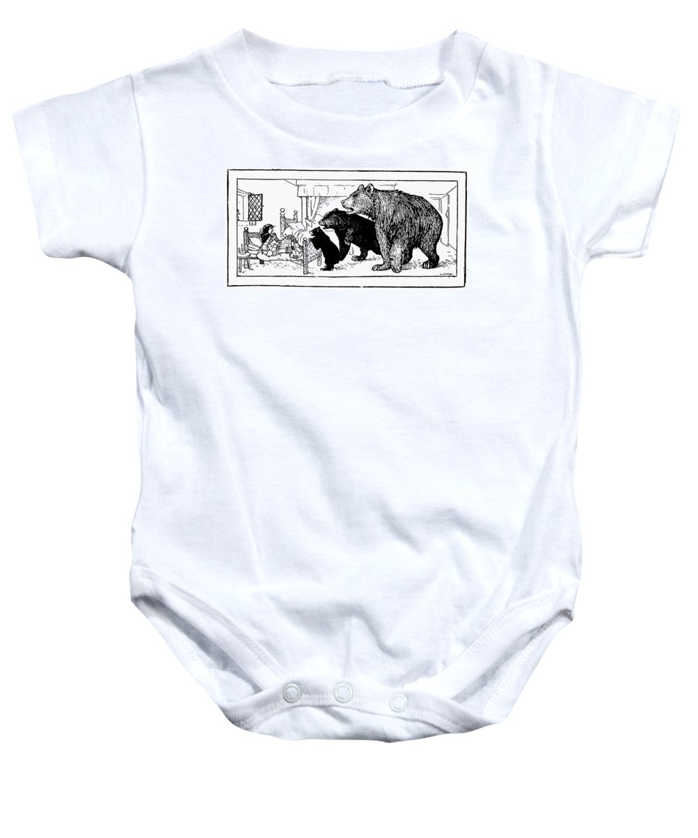 1892 Baby Onesie featuring the photograph Southey: Three Bears, 1892 by Granger