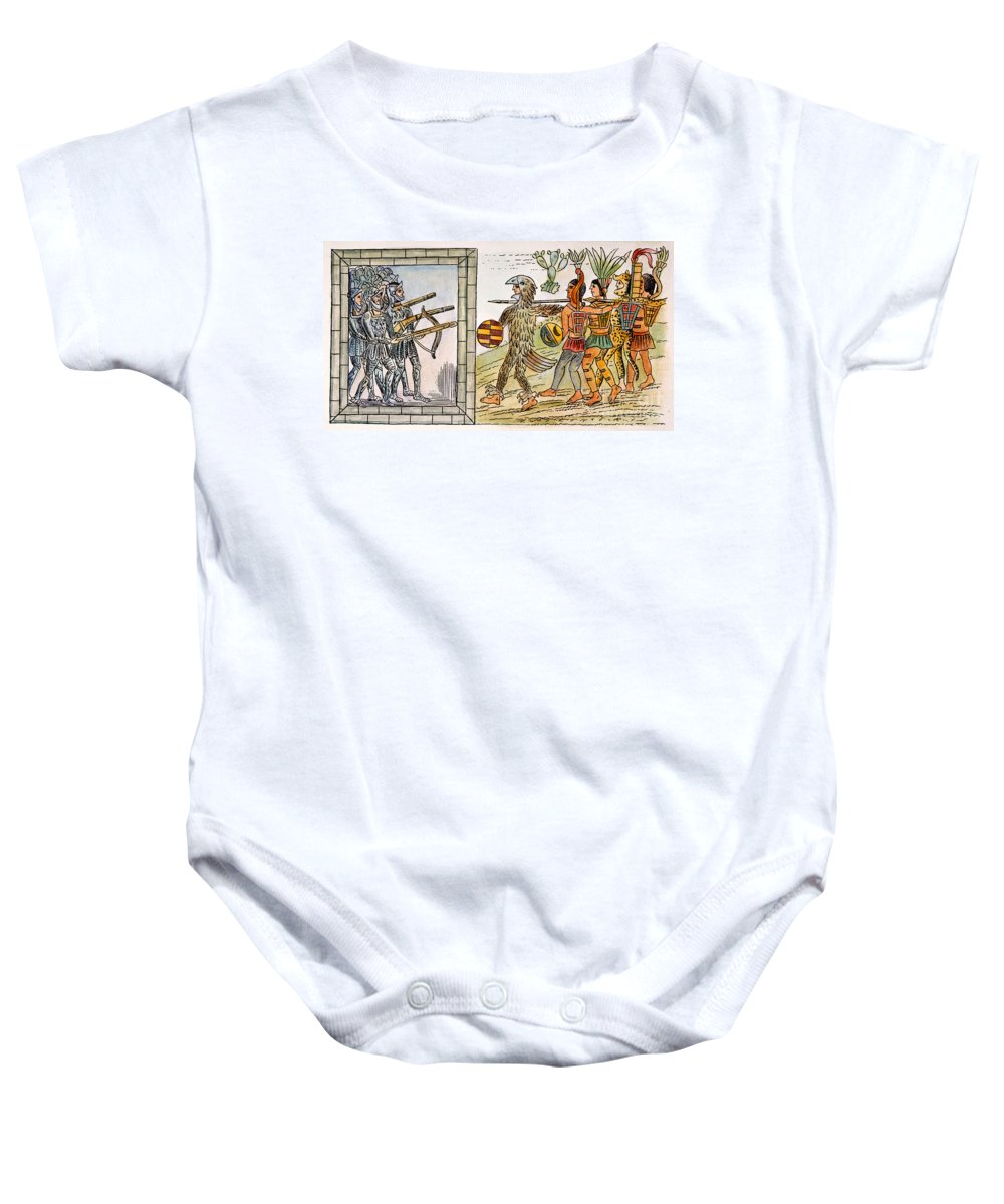 1520 Baby Onesie featuring the photograph Spanish Conquest, 1520 by Granger