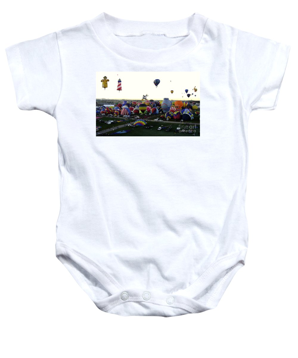 Hot Air Balloons Baby Onesie featuring the photograph Special Shapes by Mary Rogers