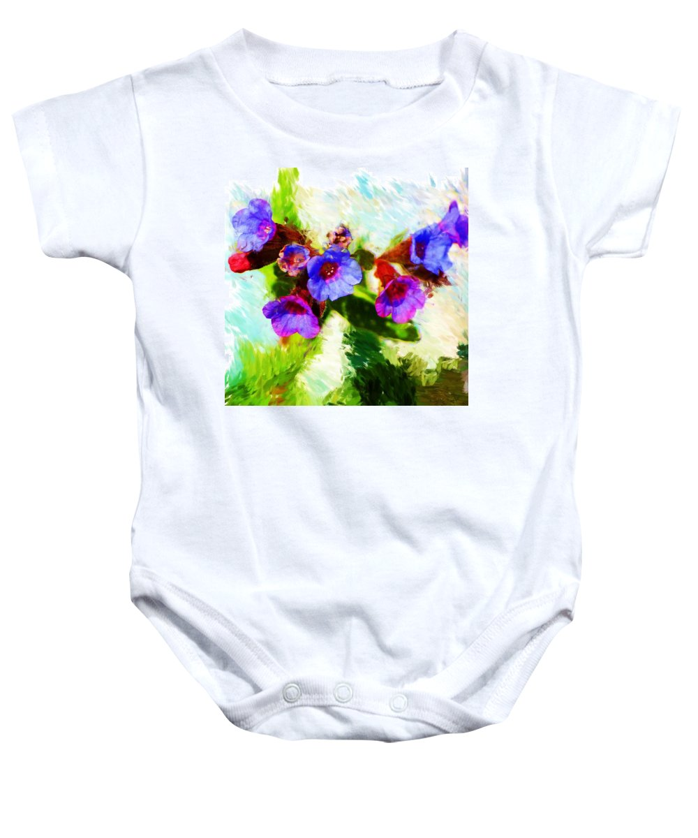 Abstract Baby Onesie featuring the photograph Speckled Trout The Flower by David Lane