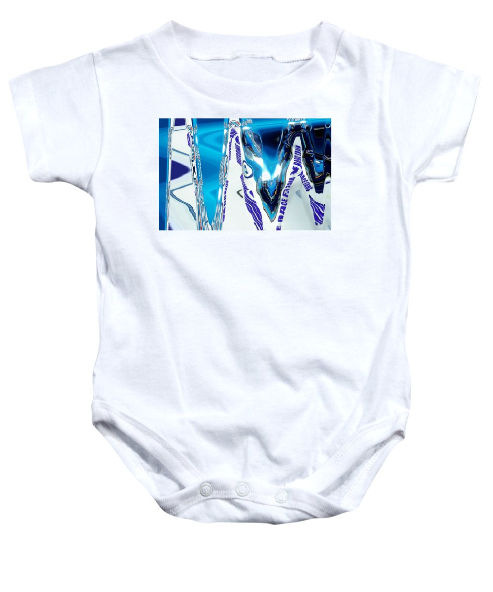 Abstract Baby Onesie featuring the digital art Speedway-america The Addicted Series by Lenore Senior