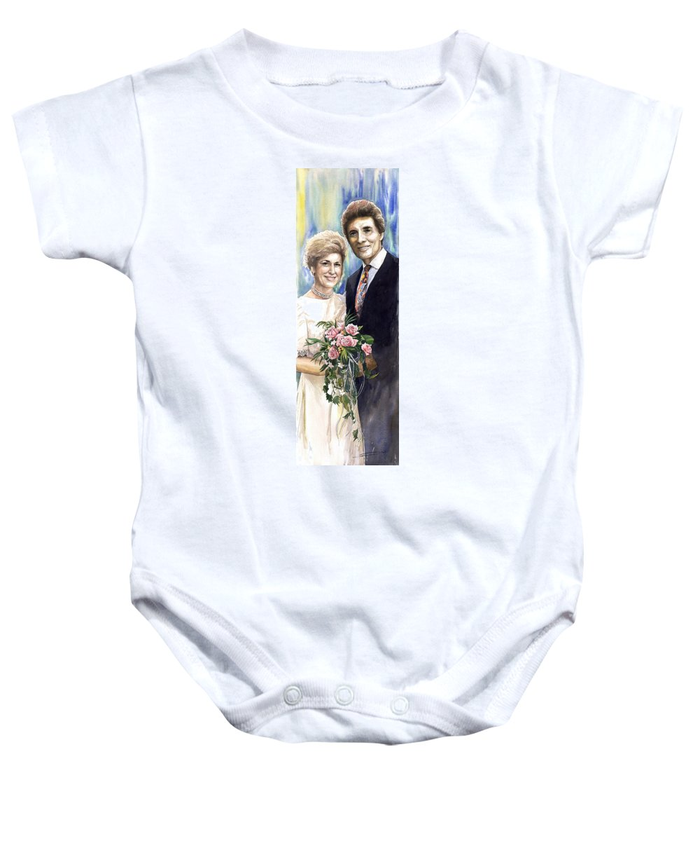 Watercolour Baby Onesie featuring the painting Spenser And Danise by Yuriy Shevchuk