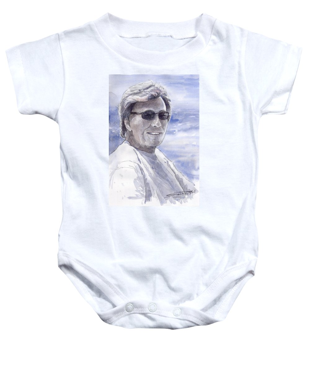 Watercolour Baby Onesie featuring the painting Spenser by Yuriy Shevchuk