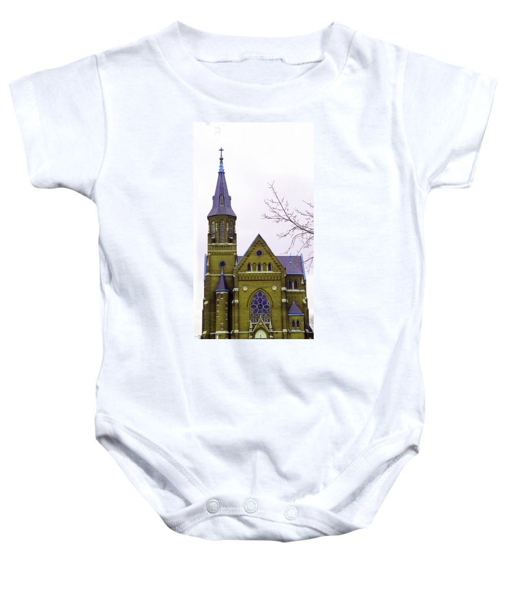 Spire Baby Onesie featuring the photograph Spire by Albert Stewart