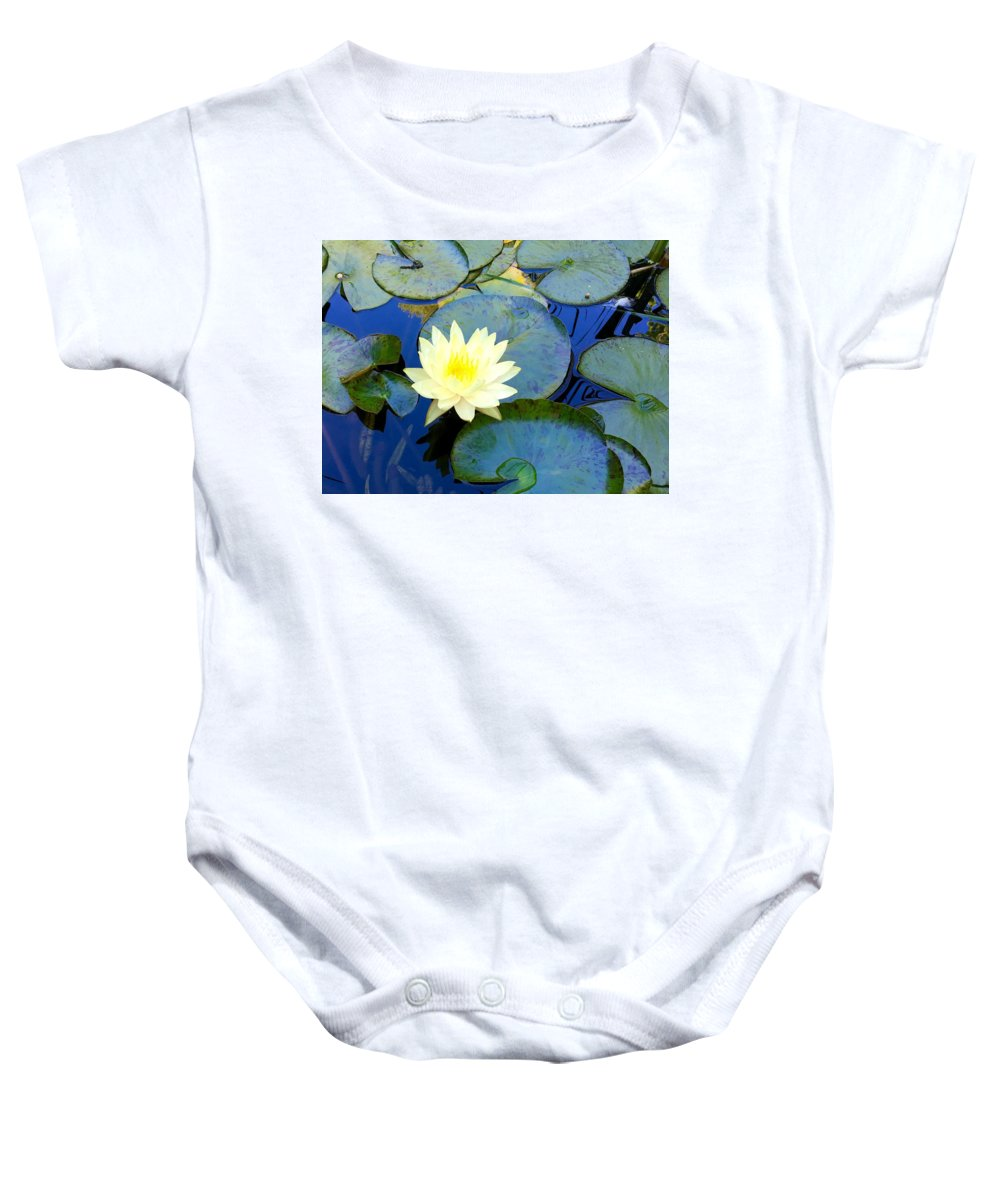 Lily Baby Onesie featuring the photograph Spring Lily by Angela Annas