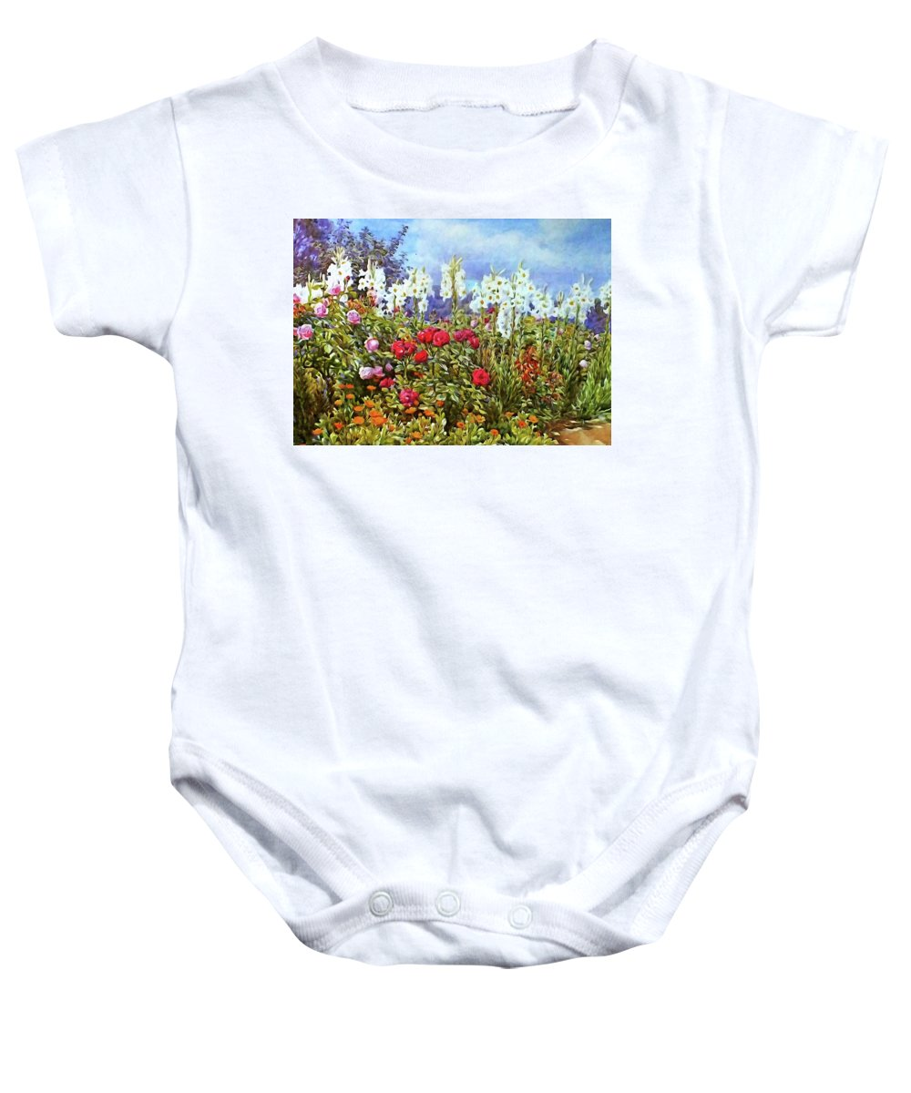 Spring Baby Onesie featuring the photograph Spring by Munir Alawi
