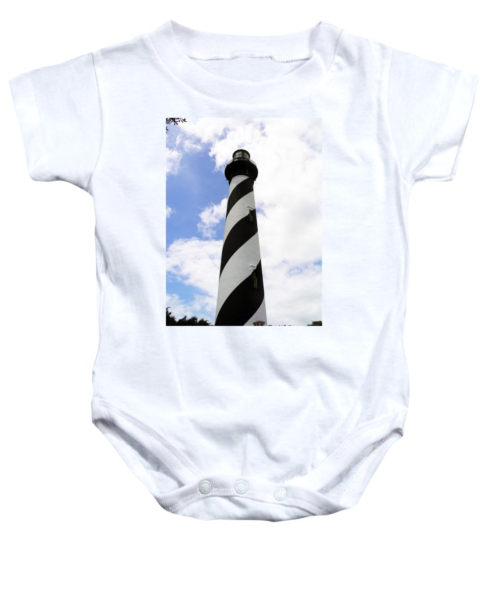 Lighthouse; Light; House; Keeper; St. Augustine; Florida; Coast; Shine; Fog; Storms; U.s. Coast Guar Baby Onesie featuring the photograph St. Augustine Light by Allan Hughes