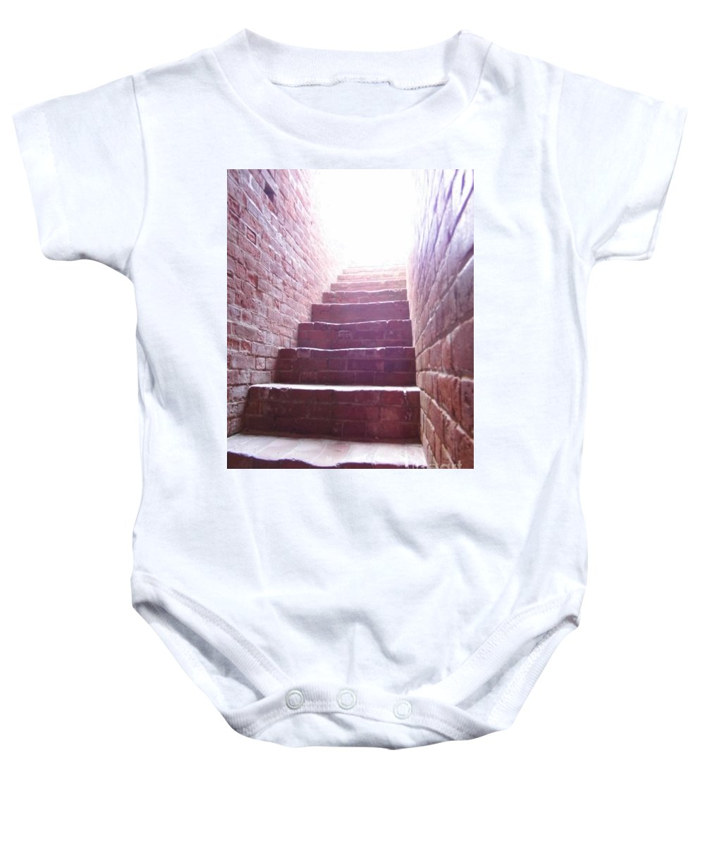 Fort Clinch Baby Onesie featuring the photograph Stairway To The Sky by D Hackett