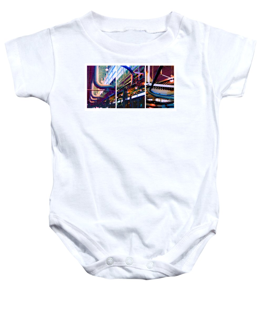 Abstract Baby Onesie featuring the photograph Star Factory by Steve Karol