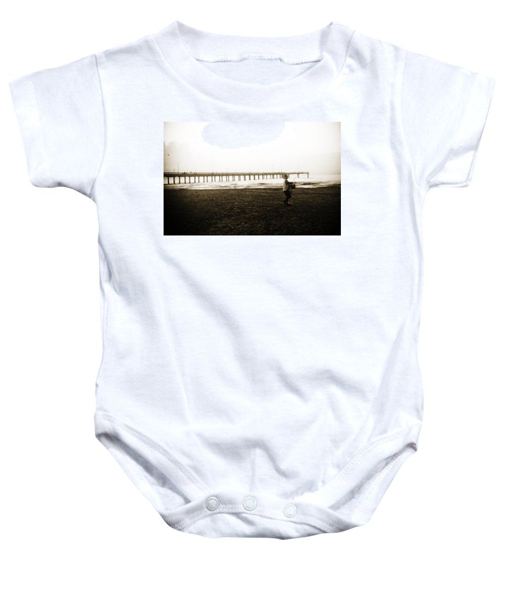 Fish Baby Onesie featuring the photograph Starting Early by Marilyn Hunt