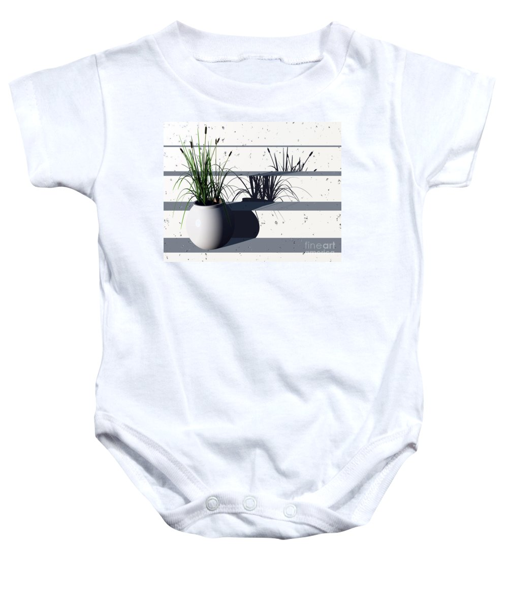 Steps Baby Onesie featuring the digital art Steps by Richard Rizzo