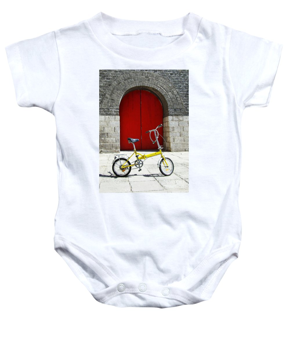 Bicycle Baby Onesie featuring the photograph Still Life by Xueling Zou