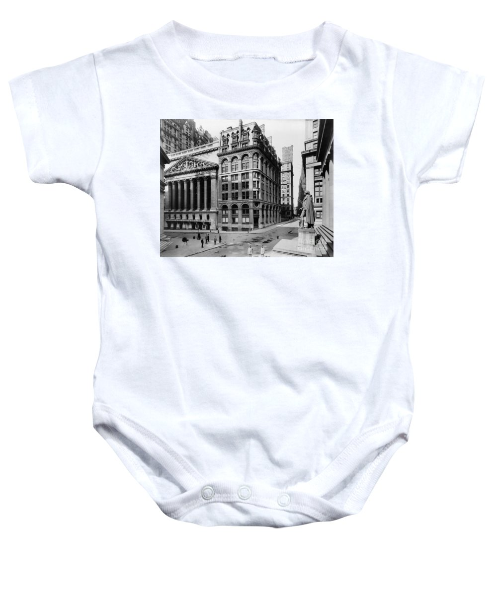 1908 Baby Onesie featuring the photograph Stock Exchange, C1908 by Granger