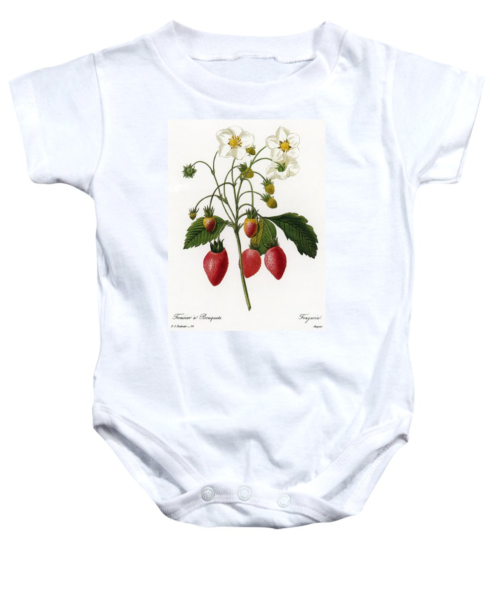 1833 Baby Onesie featuring the photograph Strawberry by Granger