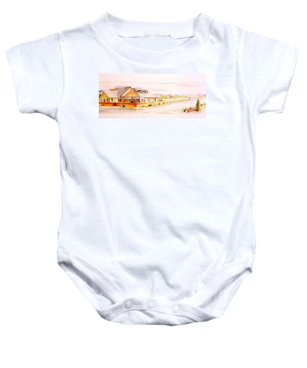 Architectural Renderings Baby Onesie featuring the painting Subdivison Rendering by Eric Schiabor
