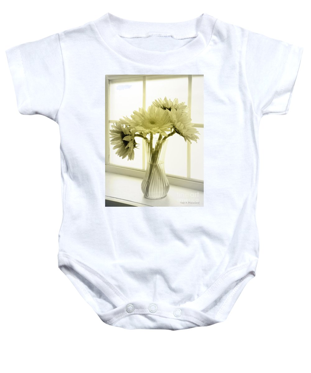 Sunflowers Baby Onesie featuring the photograph Sunflowers by Todd Blanchard