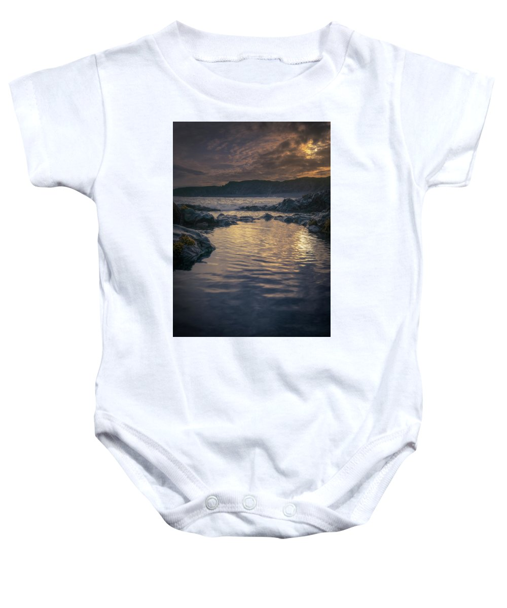 Iceland Baby Onesie featuring the photograph Sunset On Iceland by Rob Giannese