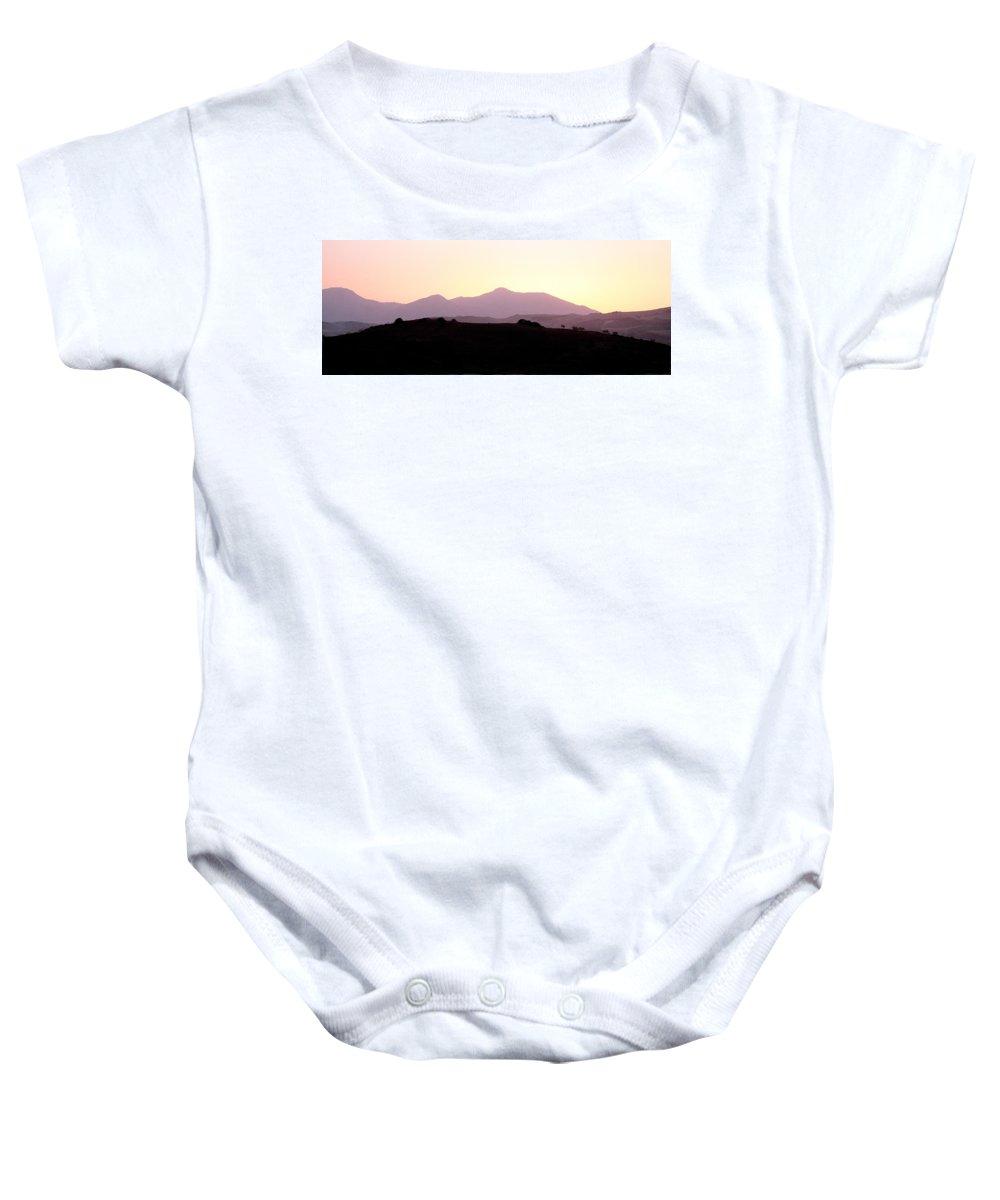 Spain Baby Onesie featuring the photograph Sunset Over The Andalucian Mountains Near Villanueva De La Concepcion by Mal Bray