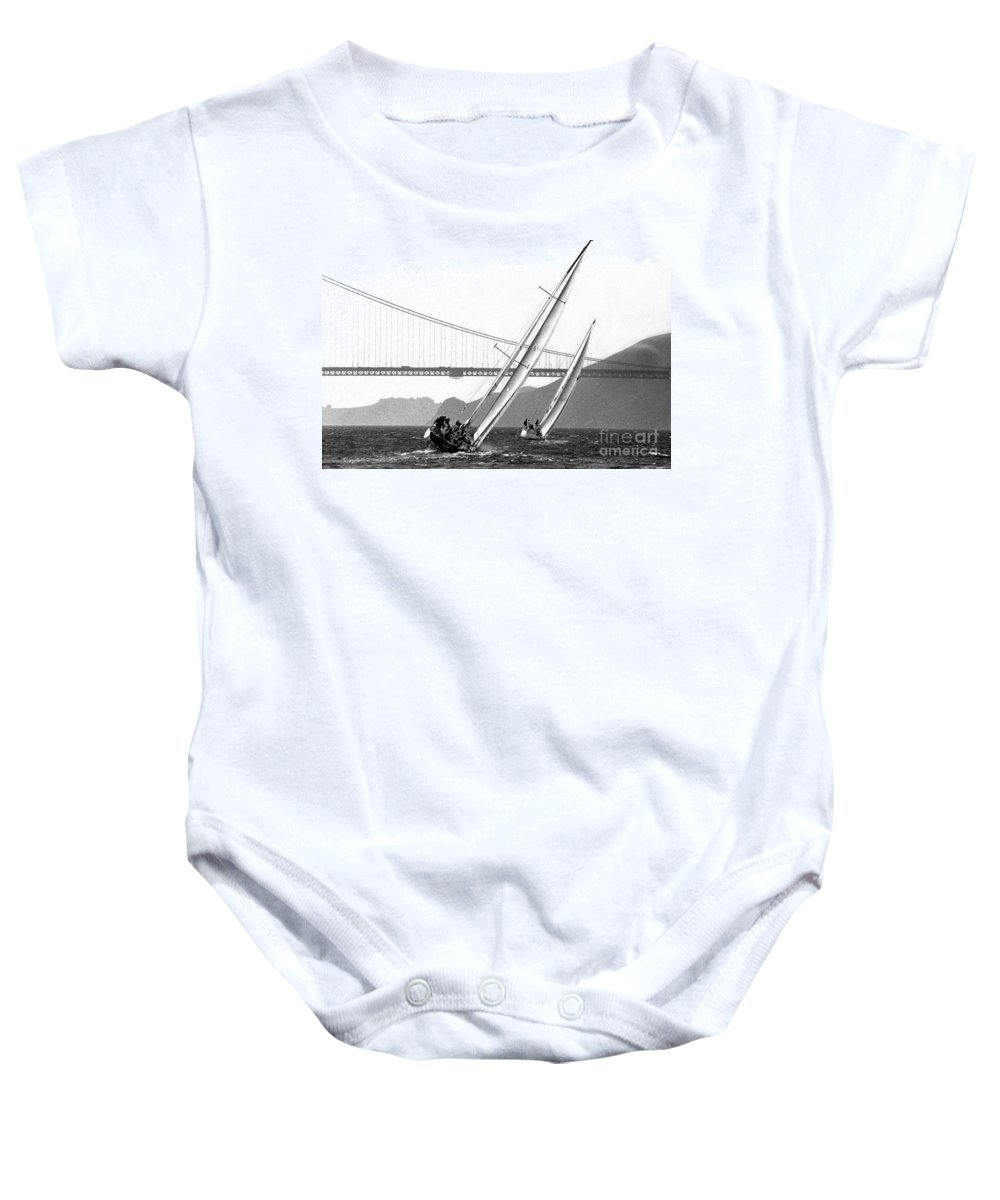 San Francisco Baby Onesie featuring the photograph Sunset Sailing by Norman Andrus