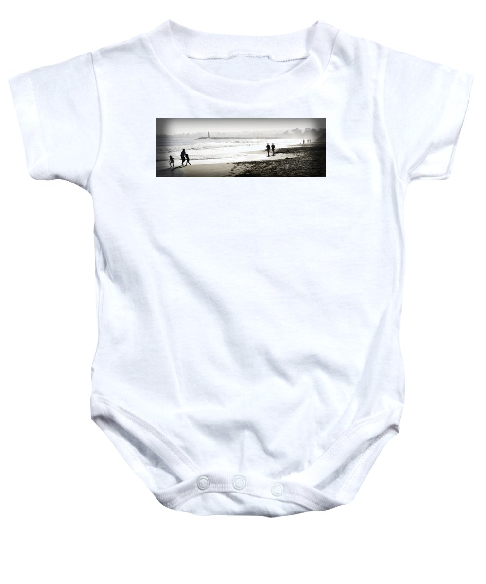 Men Baby Onesie featuring the photograph Surreal Beach by Marilyn Hunt