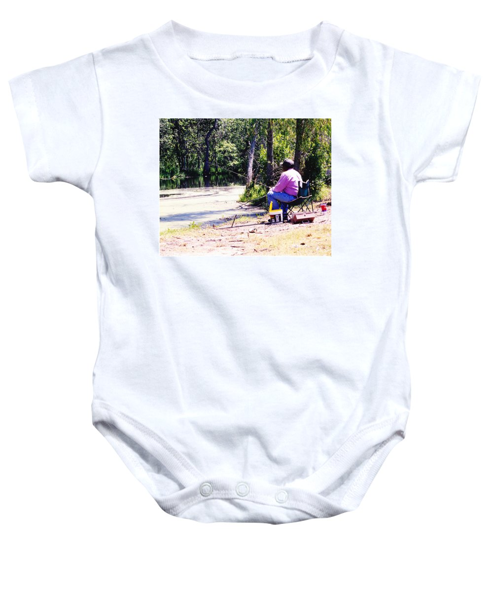 Swamps Baby Onesie featuring the photograph Swamp Fishing by Michelle Powell