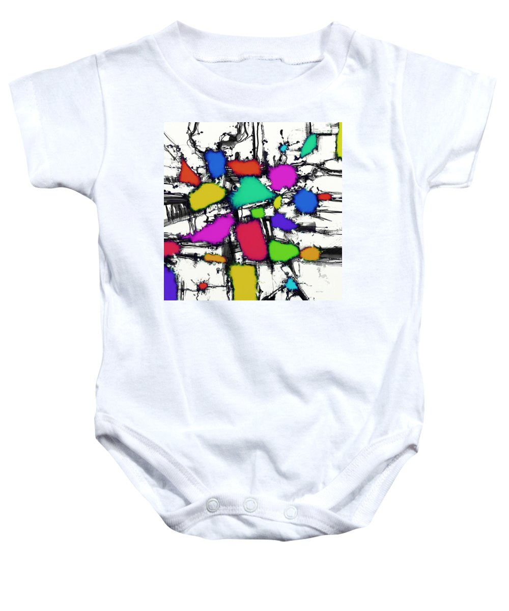 Sweet Shop Baby Onesie featuring the digital art Sweet Shop by Keith Mills