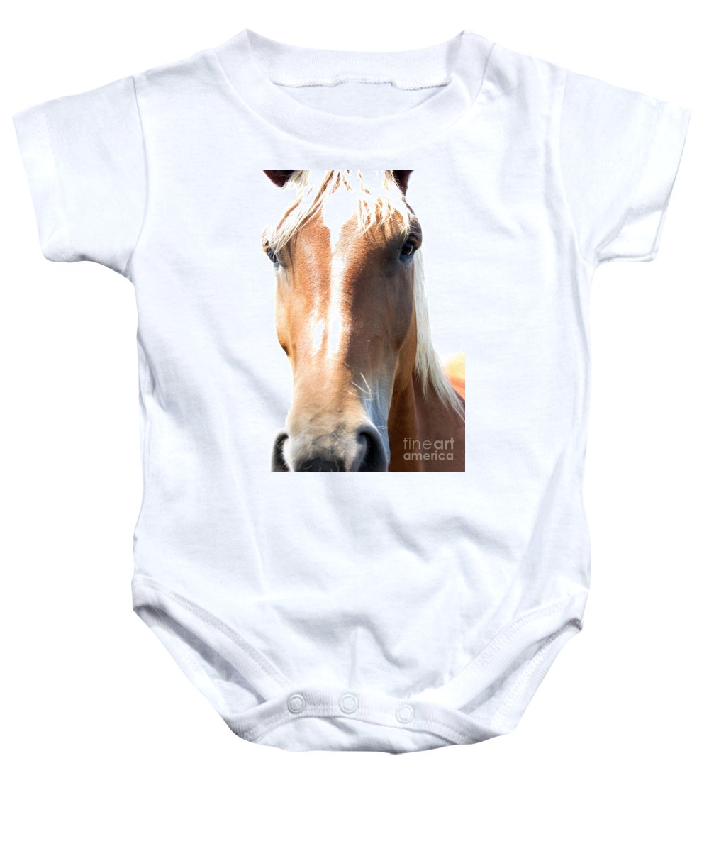 Horse Baby Onesie featuring the photograph Sweetie by Amanda Barcon