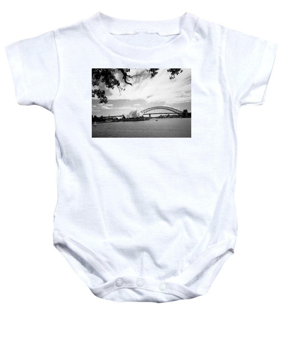 Australia Baby Onesie featuring the photograph Sydney Harbour by Heike Hellmann-Brown