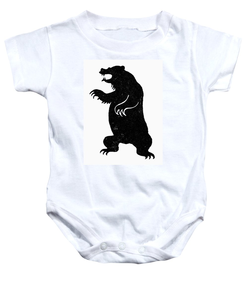Anger Baby Onesie featuring the photograph Symbol: Bear by Granger
