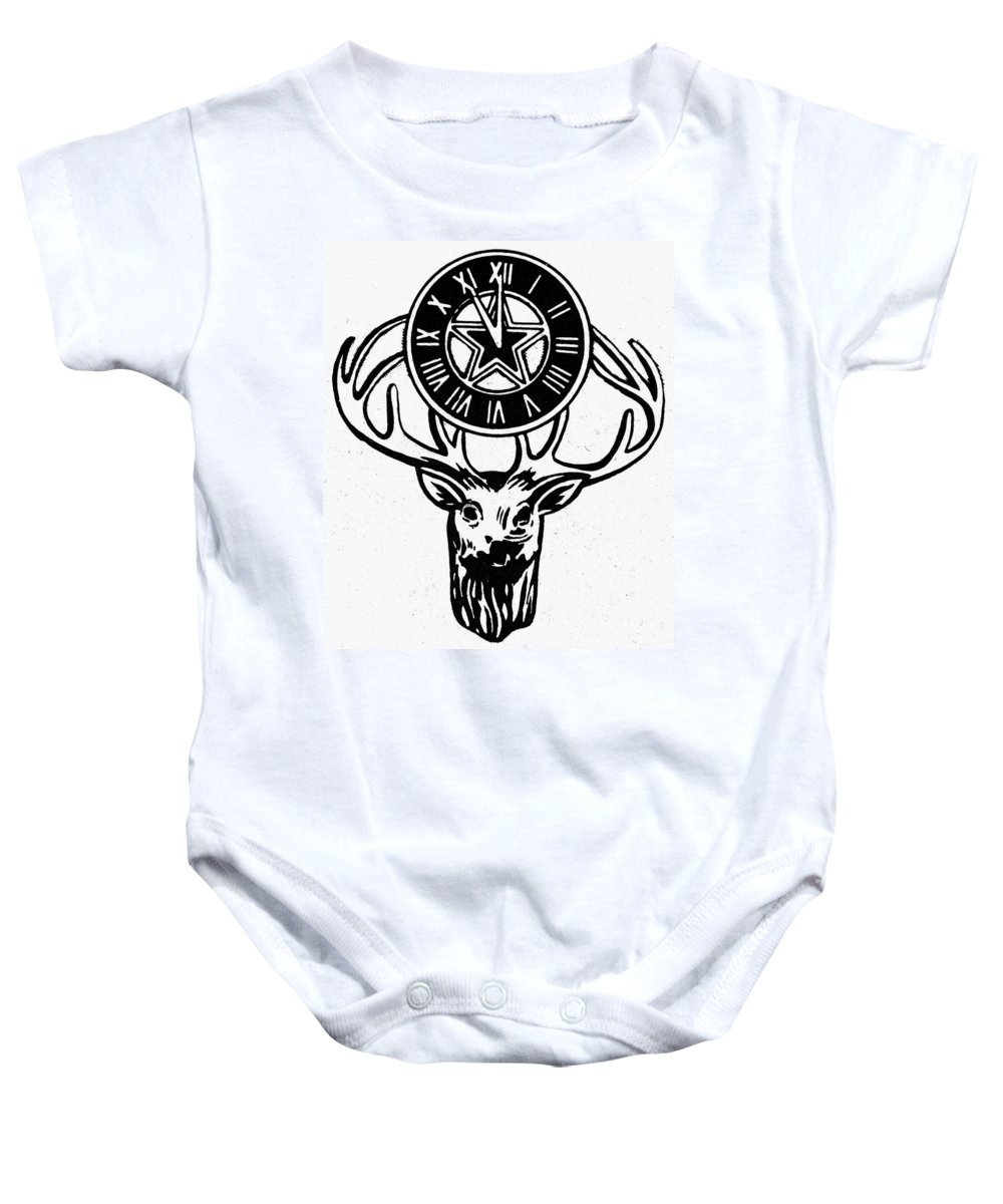 America Baby Onesie featuring the photograph Symbol: Elks by Granger