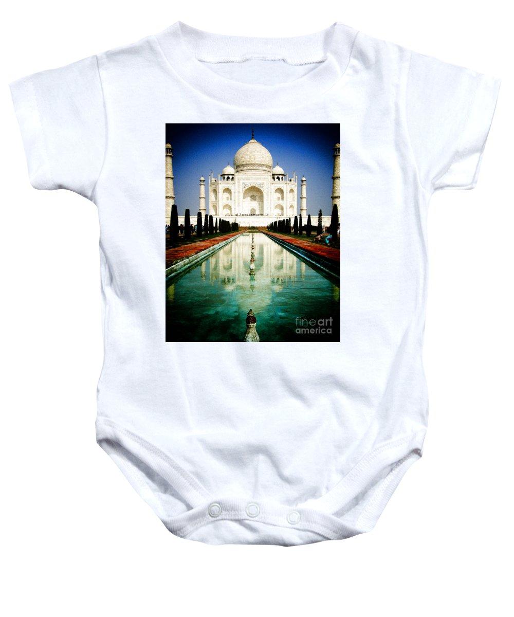 Taj Mahal Baby Onesie featuring the photograph Taj Mahal by Sonal Dave