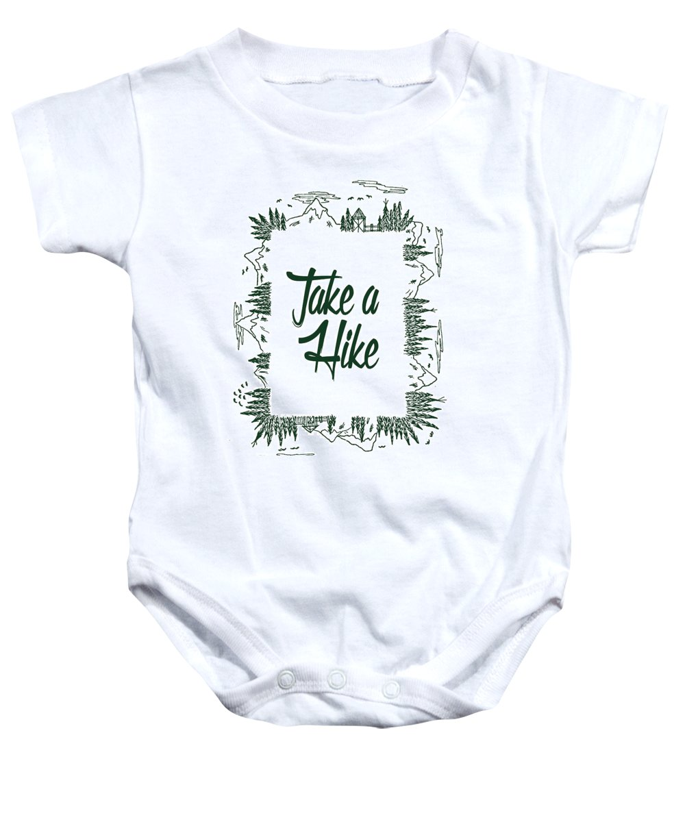 Nature Baby Onesie featuring the digital art Take A Hike by Art by Jamie B