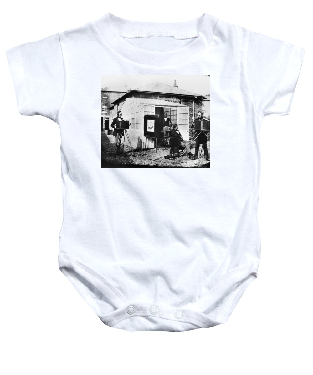 1845 Baby Onesie featuring the photograph Talbotype, 1845 by Granger