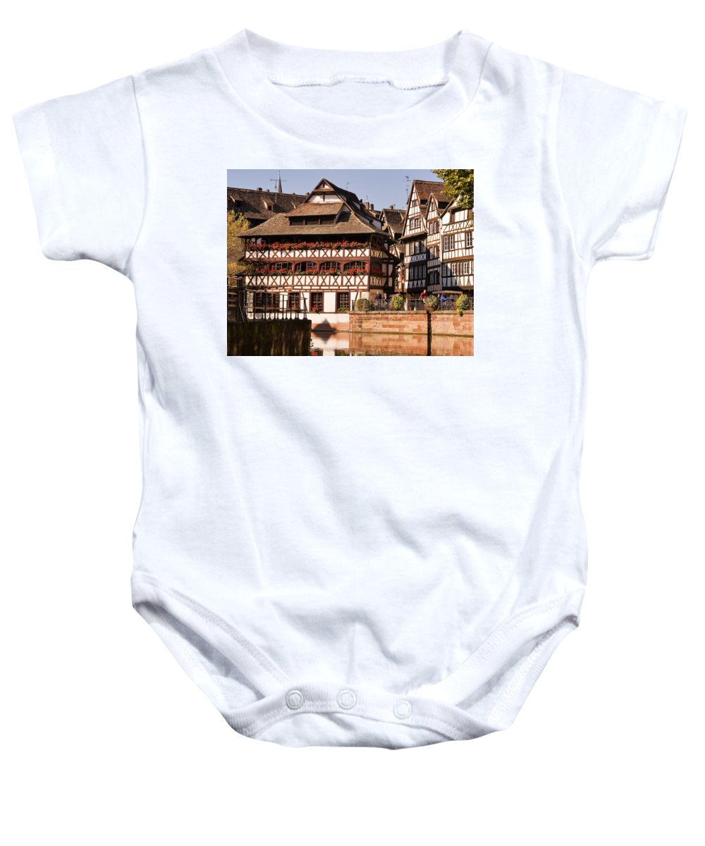 Travel Baby Onesie featuring the photograph Tanners House Strasbourg by Louise Heusinkveld