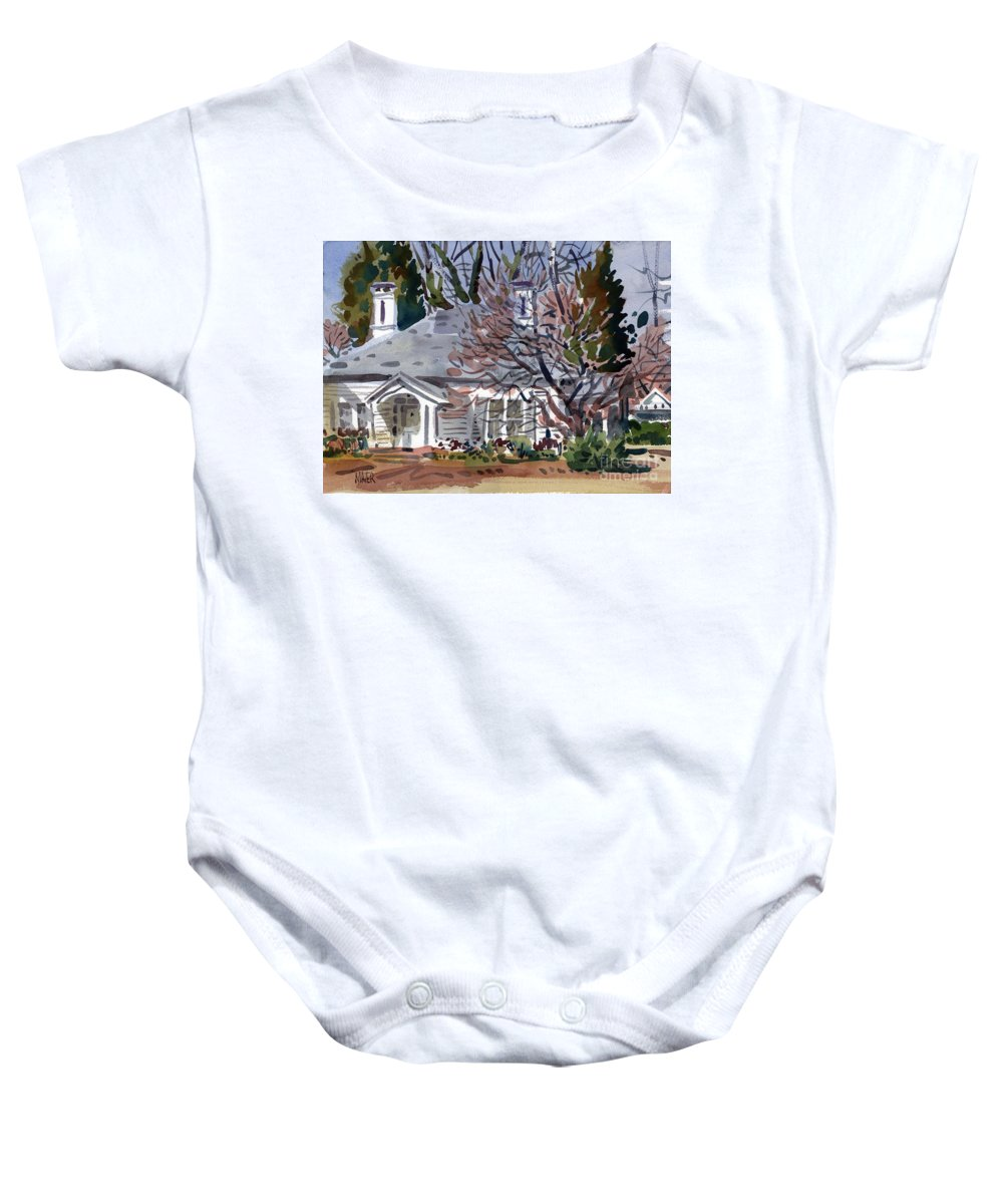 Tapp House Baby Onesie featuring the painting Tapp House by Donald Maier