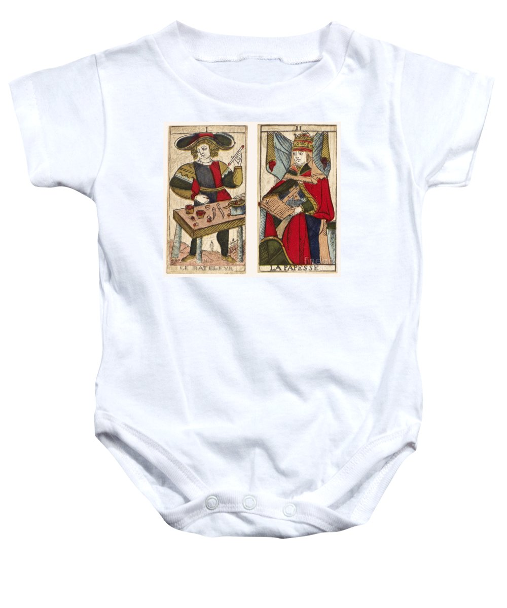 18th Century Baby Onesie featuring the photograph Tarot Cards, C1700 by Granger