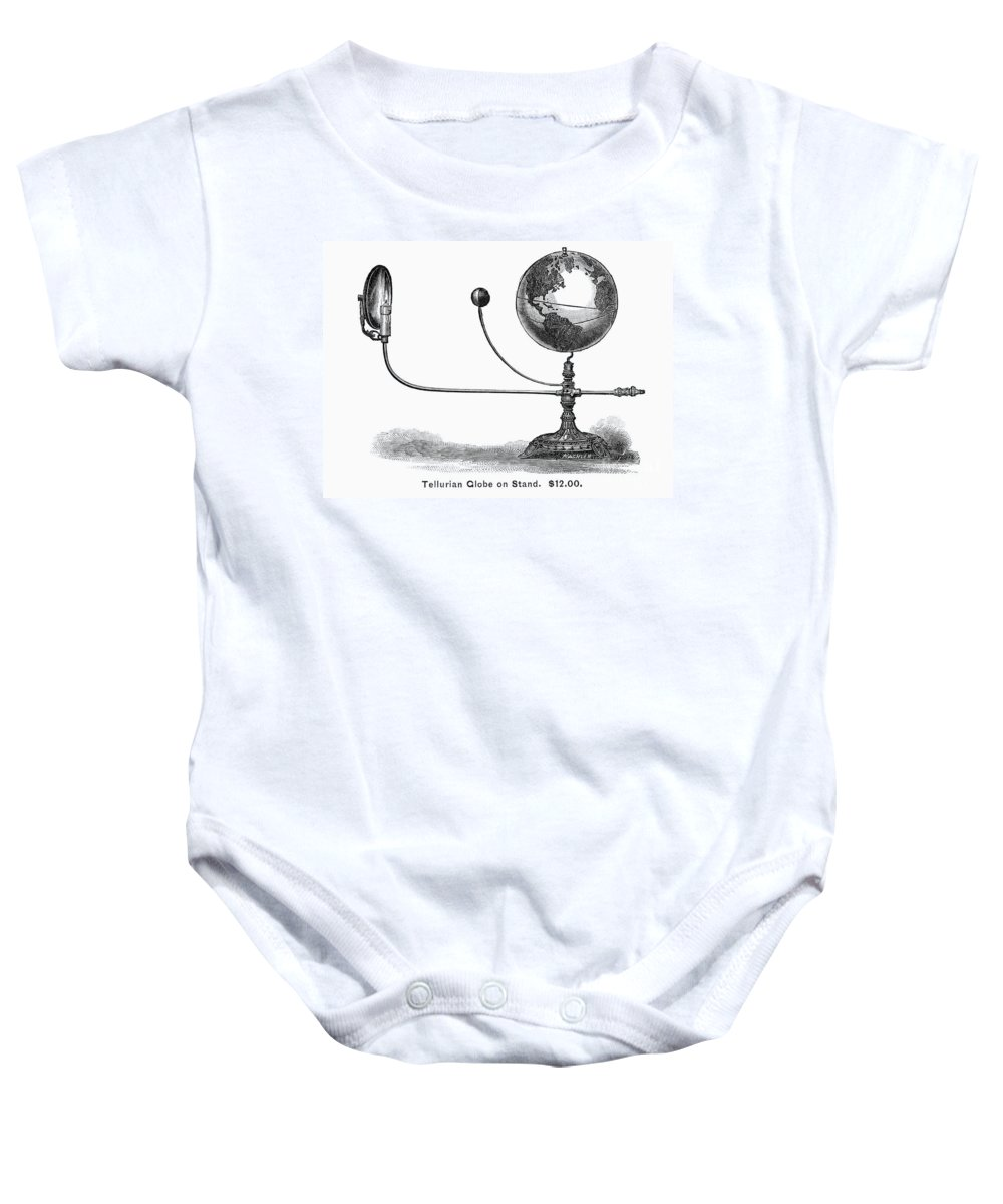 19th Century Baby Onesie featuring the photograph Tellurian Globe by Granger
