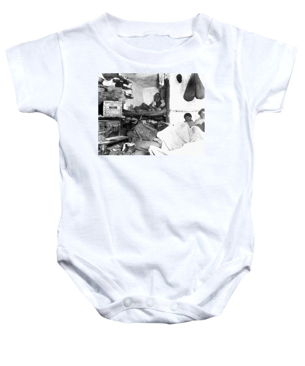 1889 Baby Onesie featuring the photograph Tenement Life, Nyc, C1889 by Granger