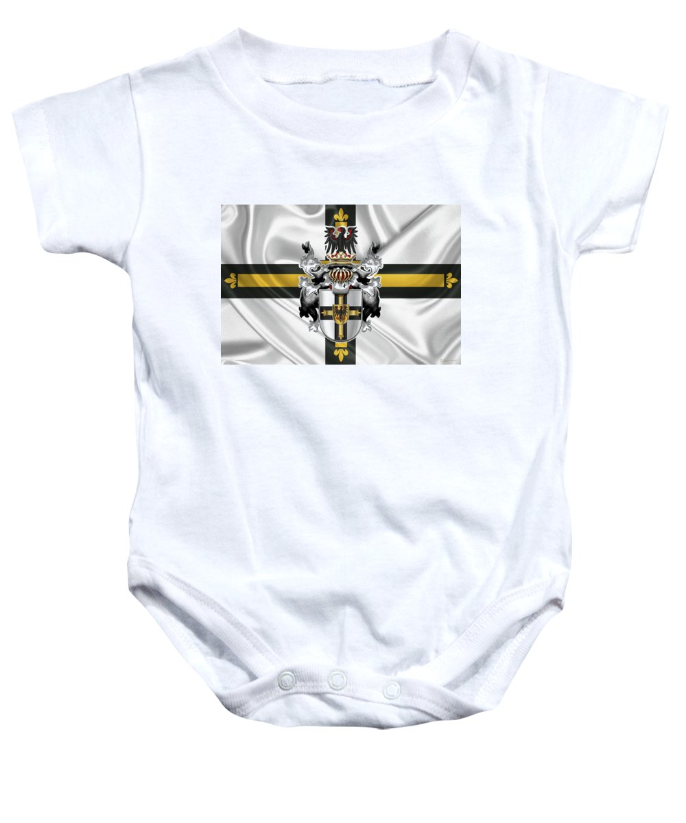 e55b44d58 Teutonic Order - Coat Of Arms Over Flag Onesie for Sale by Serge ...