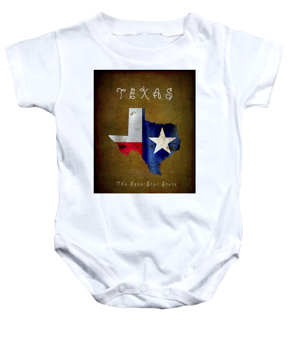 Texas Baby Onesie featuring the digital art Texas ... The Lone Star State by Daniel Hagerman