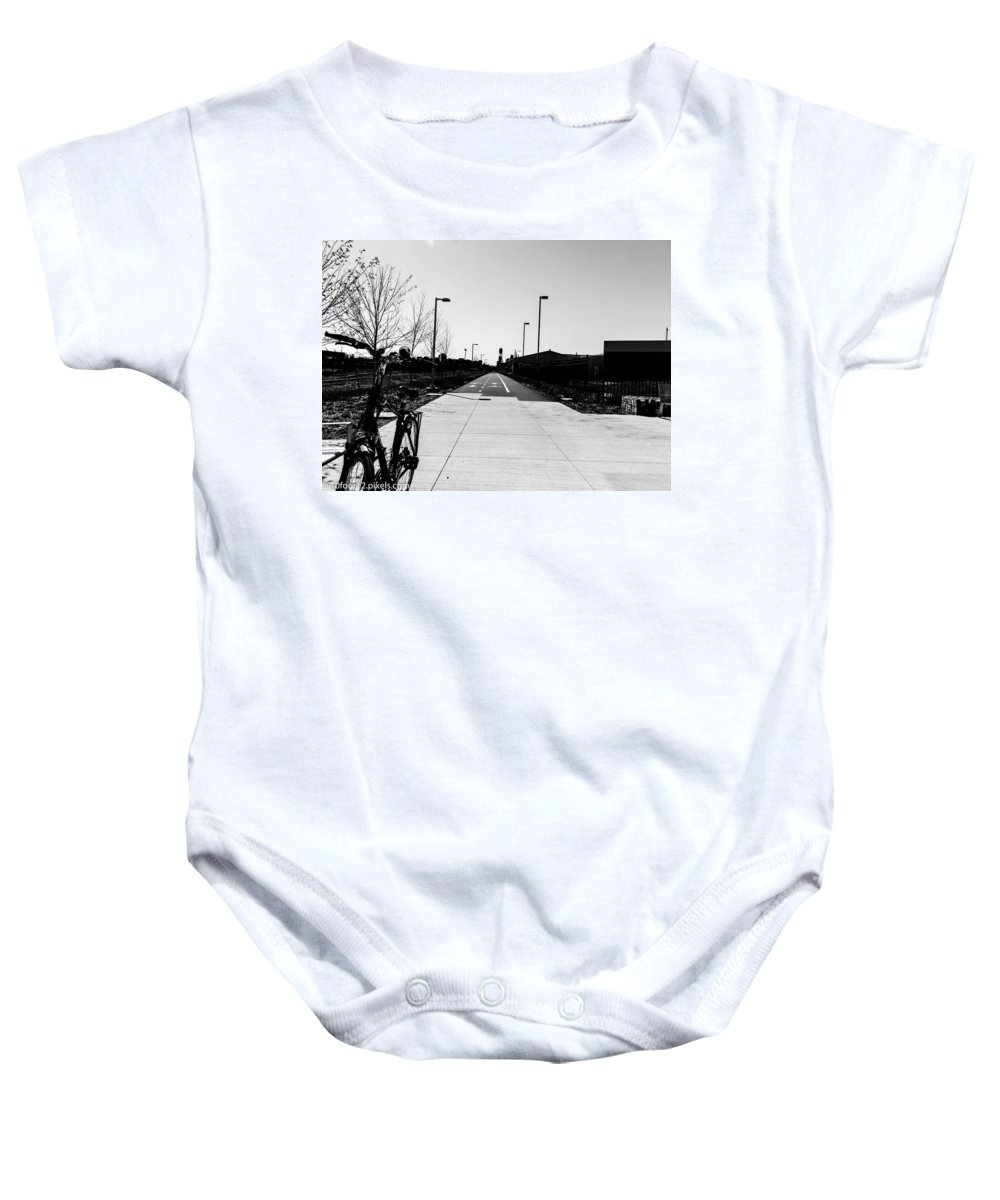Dequindre Cut Detroit Michigan Baby Onesie featuring the photograph Tha Cut by Terry Cross