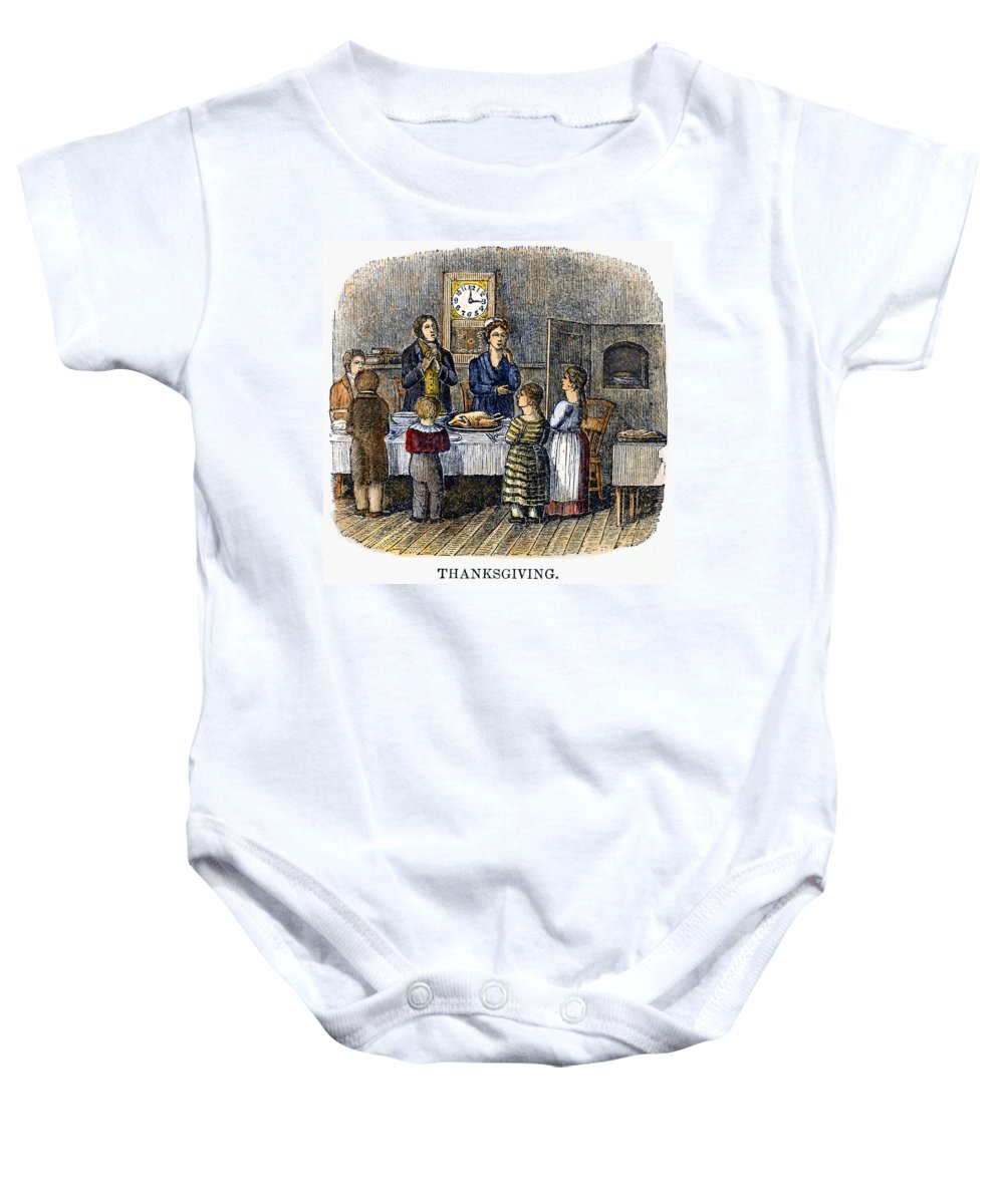 1853 Baby Onesie featuring the photograph Thanksgiving, 1853 by Granger