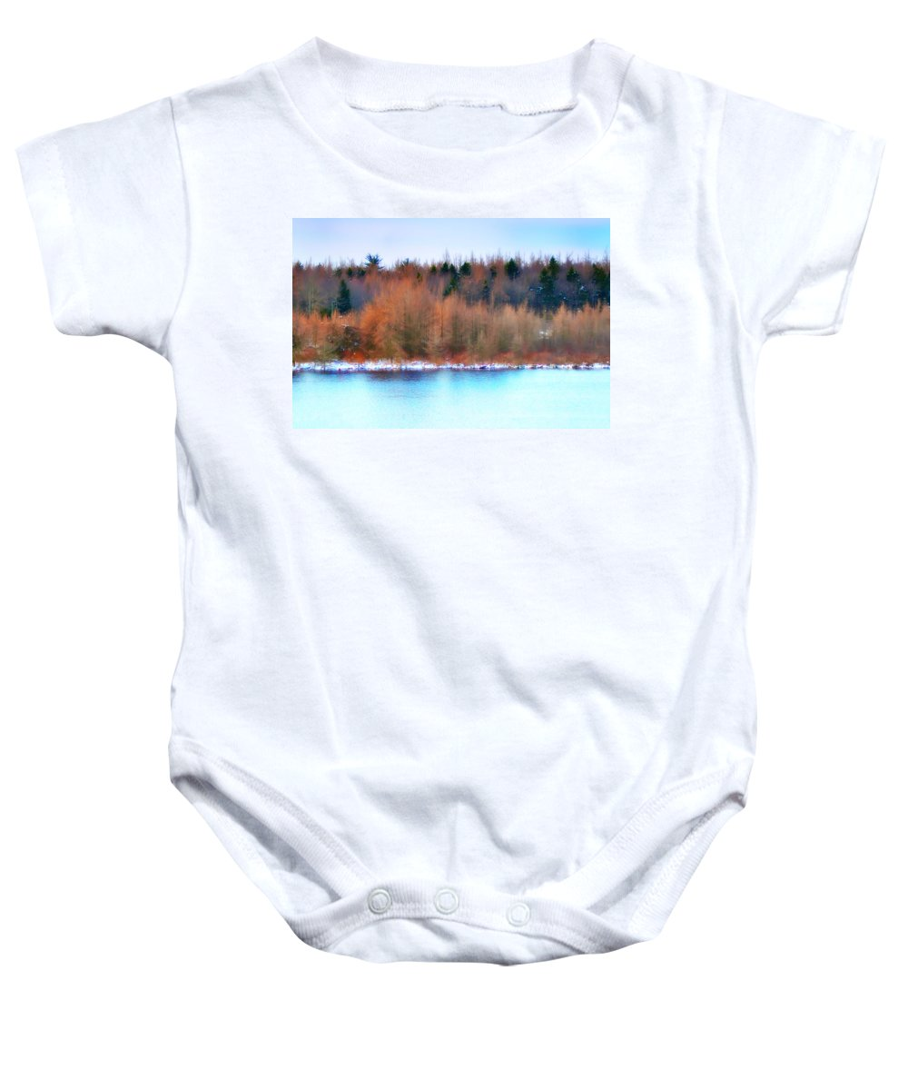 Lake Baby Onesie featuring the photograph The Deep Forbidden Lake by Bill Cannon