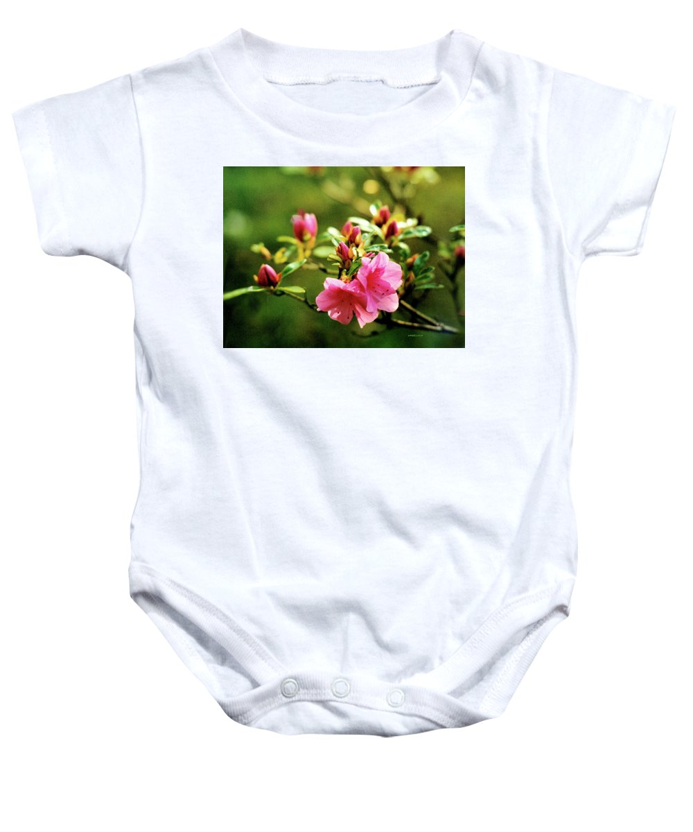 Flowers Baby Onesie featuring the photograph The Delicate Azalea by Angelcia Wright