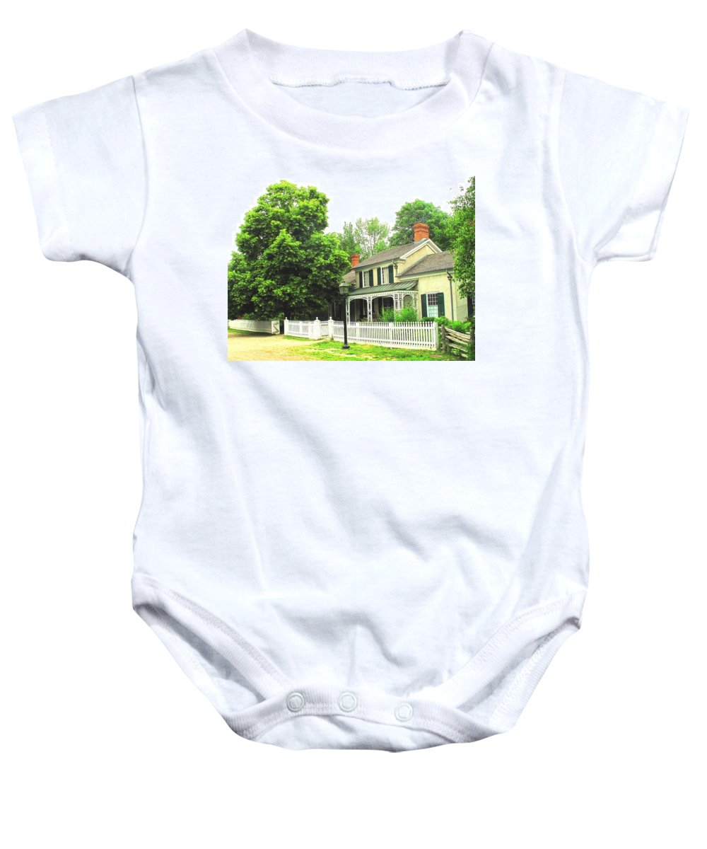 Doctor Baby Onesie featuring the photograph The Doctors House by Ian MacDonald
