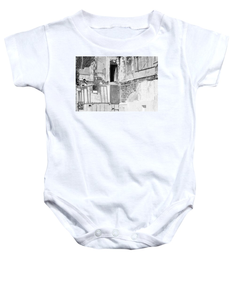 Architecture Baby Onesie featuring the photograph The Doorway To Darkness by Rob Hans