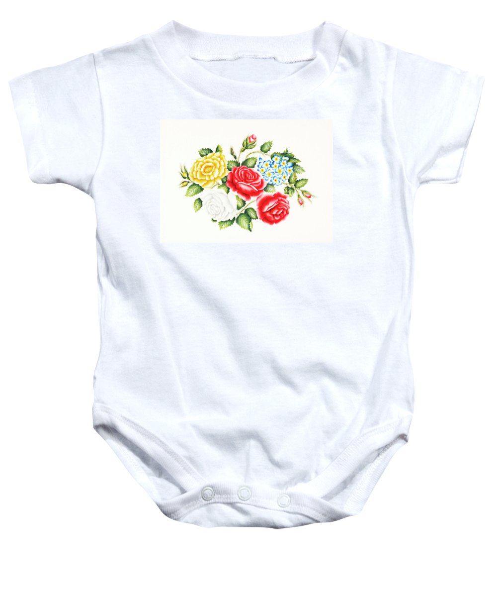 Family Baby Onesie featuring the photograph The Family of Roses by Munir Alawi